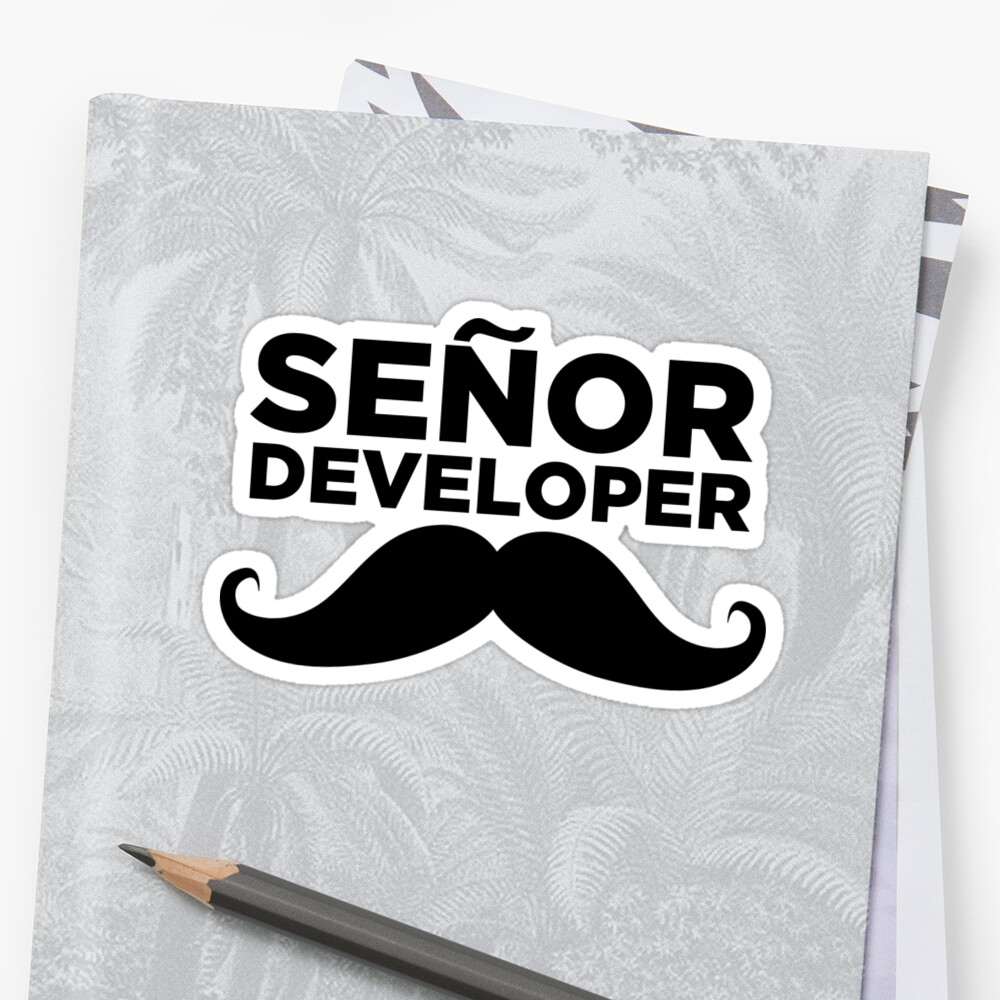 Senor Developer  Sticker