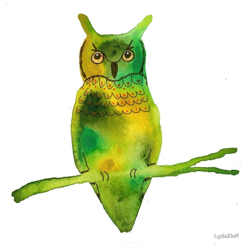 Horned Owl by LydiaEloff