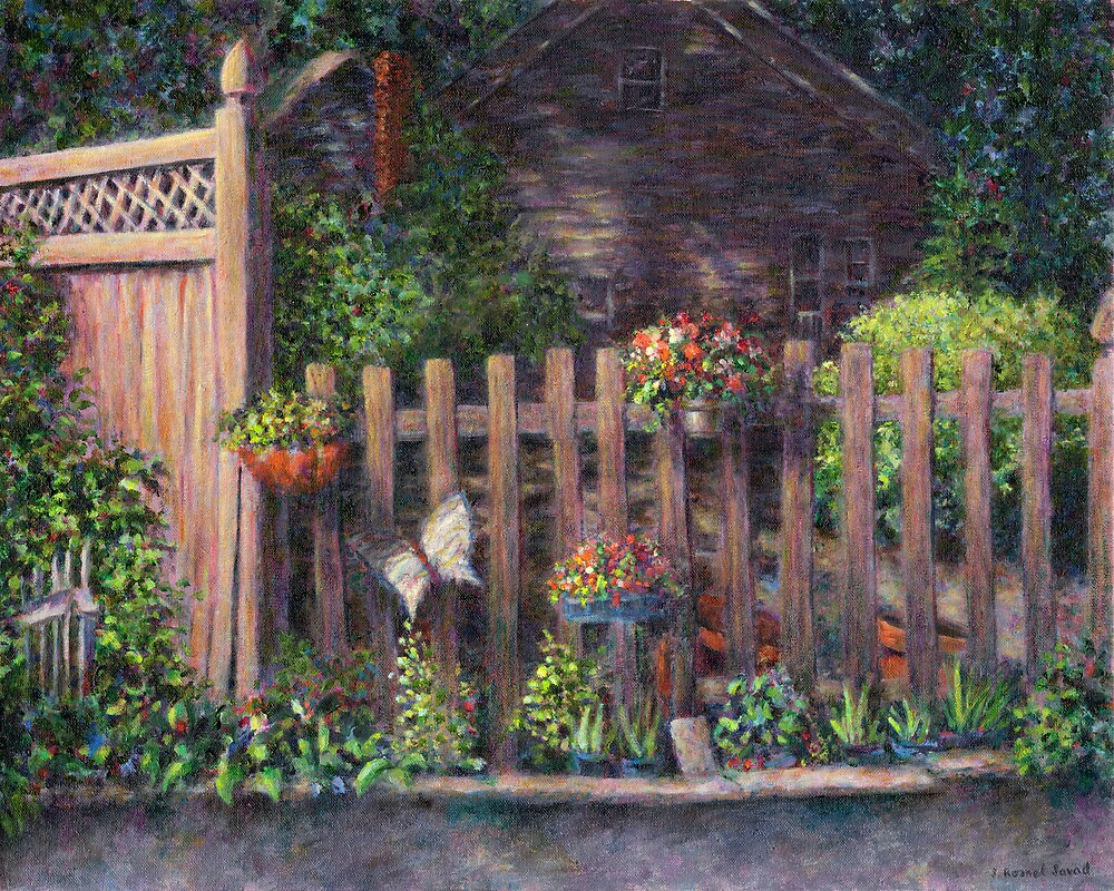 Flowerpots Hanging on a Fence by Susan Savad
