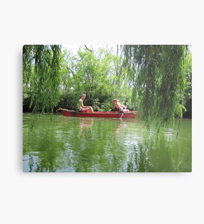 Canoeing on the Oconomowoc River Metal Print