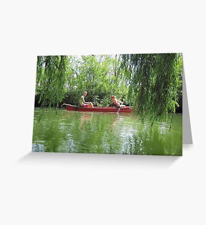 Canoeing on the Oconomowoc River Greeting Card