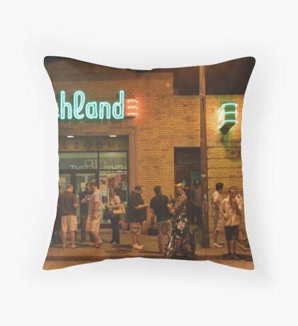 Beachland Ballroom Streetscape Throw Pillow