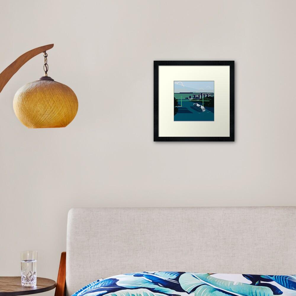 Cruiseship, Bridge City Framed Art Print