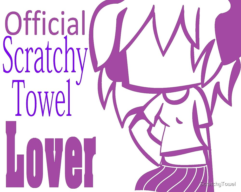 Official Scratchy Towel Lover Sticker by ScratchyTowel