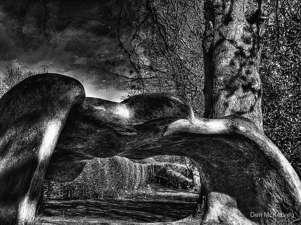 Bronze Eagle Sculpture, Edinburgh Zoo by Den McKervey