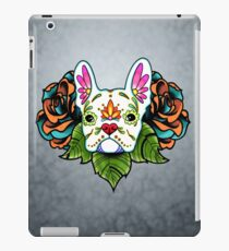 Day of the Dead French Bulldog in White Sugar Skull Dog iPad Case/Skin