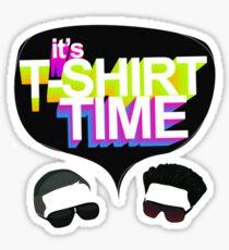 t-shirt time Sticker