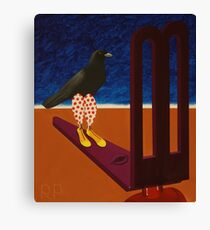 Crow Clown Arrives Canvas Print