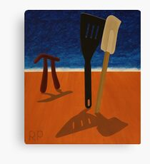 Pi Observing Utensils About to Kiss at Two in the Afternoon Canvas Print