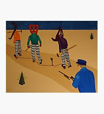 Autoanimation Convicts on a Chain Gang Photographic Print