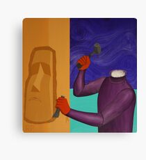 Moai Engaged in Cephalic Resizing Canvas Print