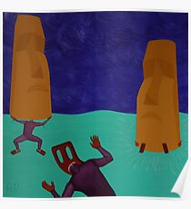 First Attempts at Moai Autoanimation Poster
