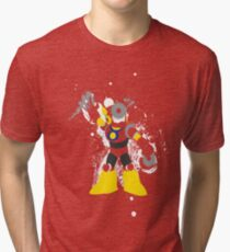 Metal Man Splattery T-Shirt Tri-blend T-Shirt