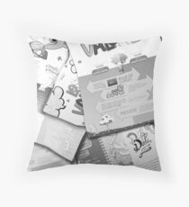 Cartoon Flyers Throw Pillow