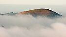 Hereford Beacon emerges from the mist by Cliff Williams