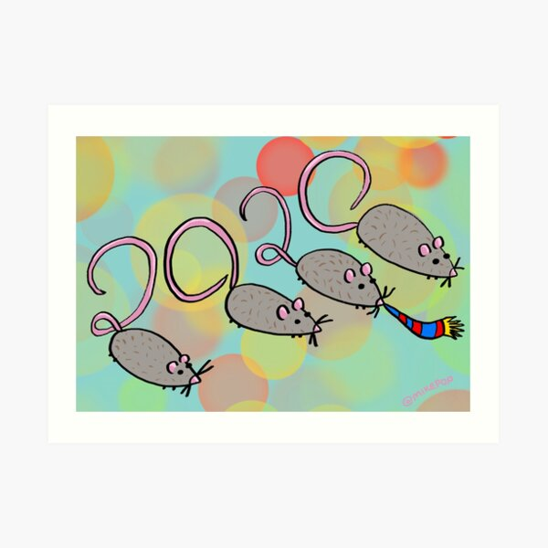 Year of the Rat 2020 Art Print