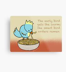 Ramen Noodle Bird Metal Print