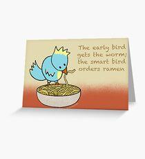 Ramen Noodle Bird Greeting Card