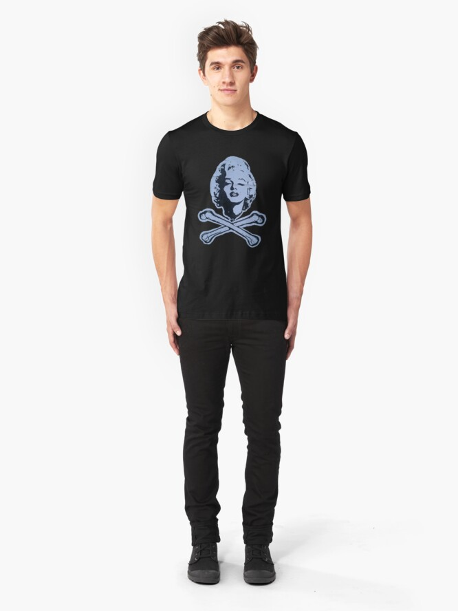 """Alternate view of """"R.I.P. Marilyn"""" Clothing Slim Fit T-Shirt"""