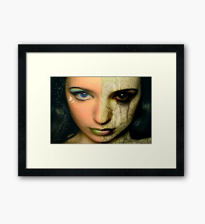 Two Sides To A Story Framed Print