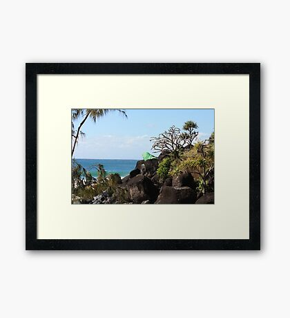 Froggy's Beach, Qld Framed Print