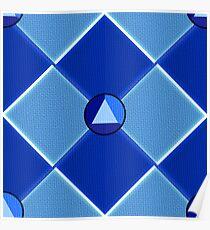 Steven Universe Sapphire-Inspired Pattern Poster