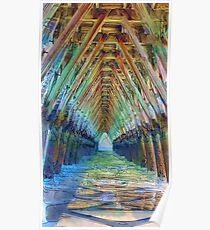 Under the Sea Cabin's Pier Poster