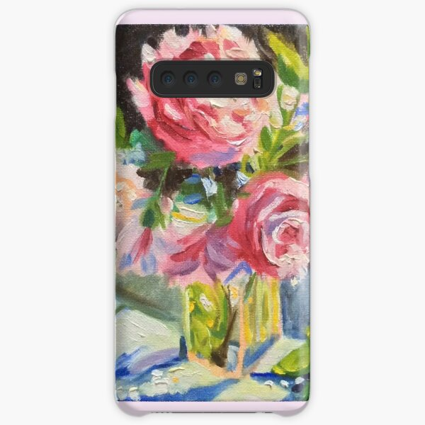 Pink flowers and cool evening shadows by American Artist Hilary J. England Samsung Galaxy Snap Case
