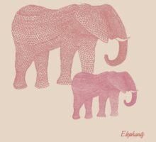 i love elephants by miiaa