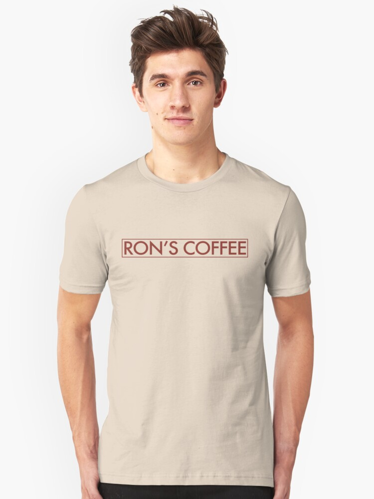 Ron's Coffee Unisex T-Shirt Front