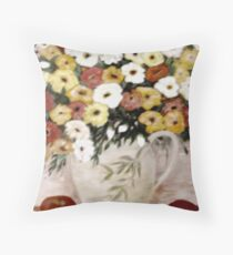 Fruit and Flowers Throw Pillow