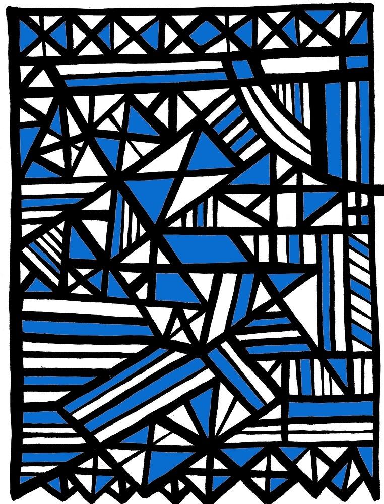 Art, Artwork, Abstract, Design, Illustration, Blue, White, Black by martygraw