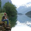 Peace-full evening by the fjord  by Annbjørg  Næss