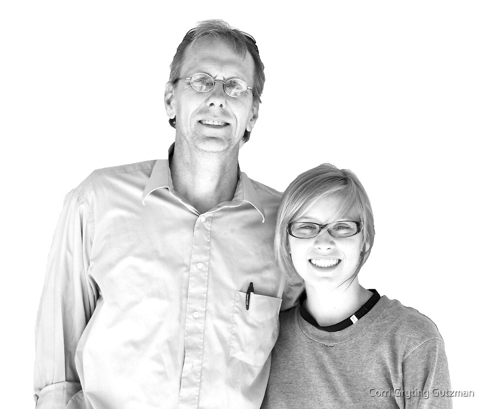 Jess and her Dad just before she left for (gulp) college... by Corri Gryting Gutzman