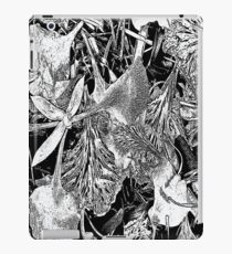 Flower Petals #1a in Black & White iPad Case/Skin