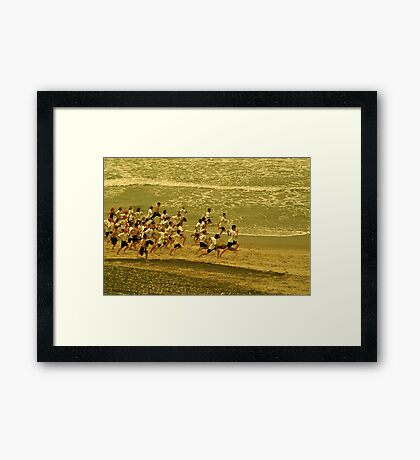 Running With the Wind Framed Print
