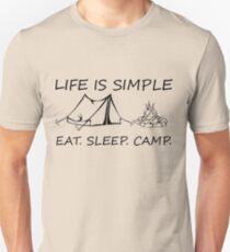 Eat. Sleep. Camp. Unisex T-Shirt