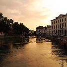 Sunset on the River Sile, Treviso by inglesina