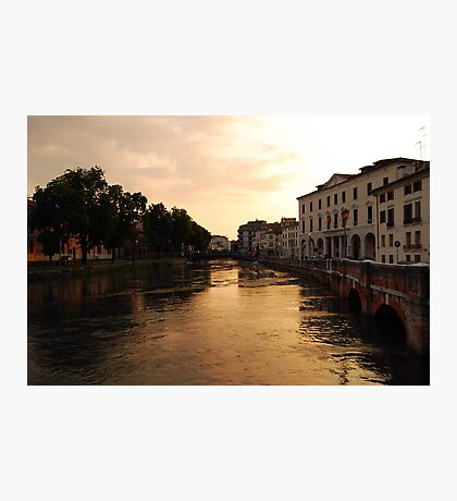 Sunset on the River Sile, Treviso Photographic Print