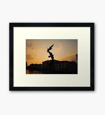 Days End, Treviso Framed Print