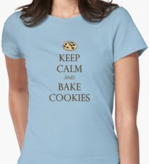 Keep Calm and Bake Cookies Womens Fitted T-Shirt