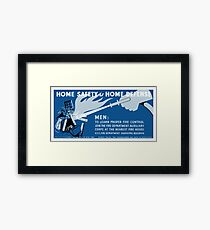Home Safety Is Home Defense -- WPA Framed Print