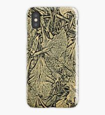 Flower Petals #1 in Black & Yellow iPhone Case/Skin
