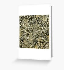 Flower Petals #1 in Black & Yellow Greeting Card
