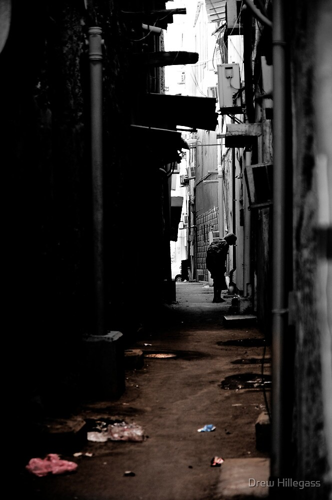 Another day, Another Alleyway (Partial Color) by Drew Hillegass