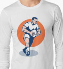 rugby player running with ball Long Sleeve T-Shirt