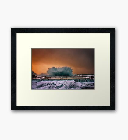 Curly Explosion Framed Print