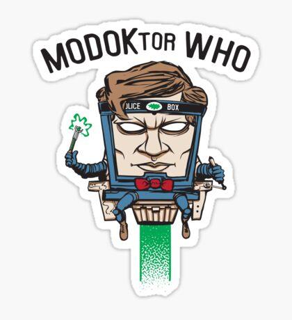 MODOKtor WHO Sticker