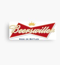 Beerswiller Funny Parody Logo Canvas Print