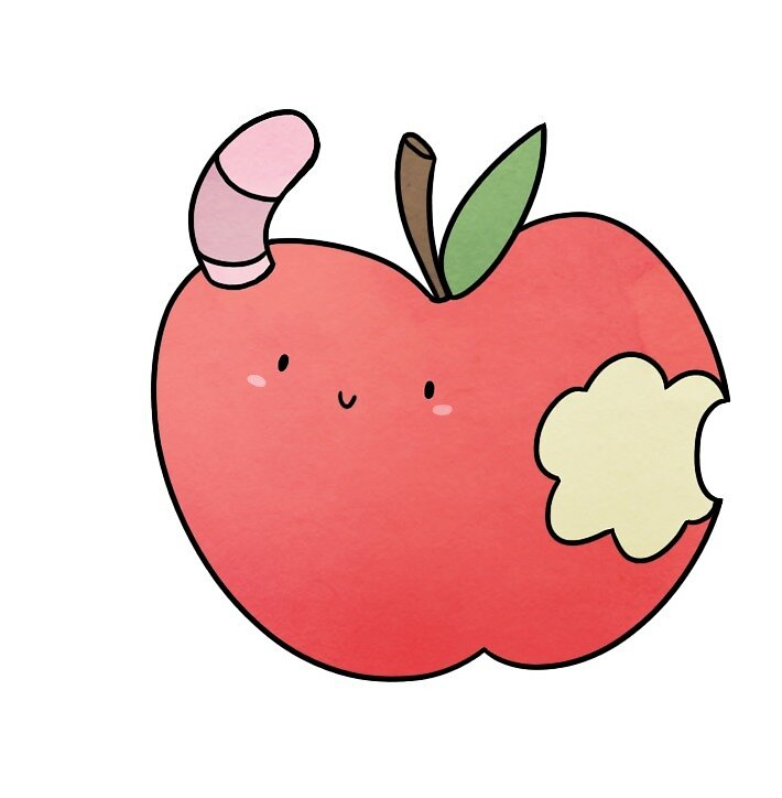Worm in an Apple by brynner